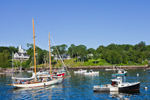 "Schooner Yacht ""Heron"" Heading Out of Rockport Harbor for Sunset Cruise, Rockport, ME"
