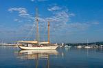 "Early Morning Light over Schooner ""Koukla"" in Rockland Harbor, Rockland, ME"