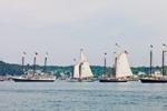Schooners at Anchor in Stonington Harbor Beginning to Set Sail, Deer Island Thorofare, Deer Isle, Stonington, ME