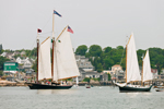 Schooners Sailing out of Stonington Harbor, Deer Island Thorofare, Deer Isle, Stonington, ME