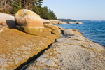 Boulder on Rocks along Shoreline of Coot Island, Deer Island Thorofare, Stonington, ME