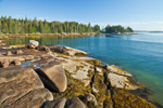 Boulders and Rocky Shoreline of Camp Island at Low Tide, Deer Island Thorofare, Stonington, ME