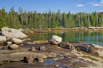 Boulders and Rocky Shoreline of Camp Island at Low Tide, Deer Island Thorofare, Stonington, ME