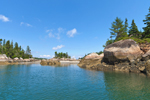 Boulders and Beach on Hen Islands at Low Tide, Seal Bay, Vinalhaven, ME