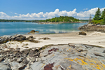 View of Hen Islands and Seal Bay at Low Tide from Rocky Beach on Neck Island, Vinalhaven, ME
