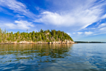 View of Bluff Head Island in Early Morning from East Penobscot Bay, Vinalhaven, ME