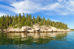 View of Hen Island from East Penobscot Bay, Vinalhaven, ME