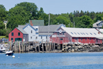 View of Waterfront and Boats in Mooring Field on North Haven Island from Fox Islands Thorofare, North Haven, ME