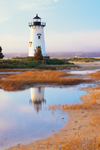 Edgartown Lighthouse in Morning Light with Reflection, Martha's Vineyard, Edgartown, MA