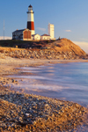 Shoreline and Montauk Point Lighthouse, Long Island, NY
