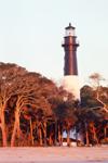 Hunting Island Lighthouse at First Light, Registered National Historic Landmark, Hunting Island State Park, Hunting Island, SC