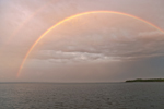 Rainbows over Sakonnet River at Sunset near Third Beach, Middletown, RI