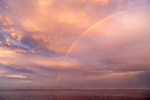 Rainbow over Sakonnet River at Sunset near Third Beach, Middletown, RI