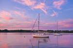Sailboats in Rockland Harbor at Sunset, Rockland, ME
