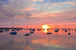Boats in Rockland Harbor at Sunrise, Rockland, ME