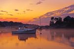 Lobster Boat in York Harbor at Sunrise, York, ME