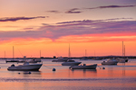 Sunset over Boats on Lake Tashmoo, Martha's Vineyard, Tisbury, MA