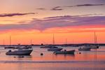 Sunset over Boats on Lake Tashmoo, Martha's Vineyard, Tisbury, MA