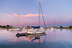 Sunset over Boats in Scituate Harbor, South Shore, Scituate, MA