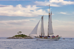 "Schooner ""Argia"" under Sail in Fishers Island Sound near Ram Island, Stonington, CT"