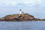View of Nubble (Cape Neddick) Light from Atlantic Ocean, Cape Neddick, York, ME