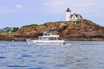 "Tourboat ""Finestkind III"" Passing Nubble (Cape Neddick) Light, Cape Neddick, York, ME"