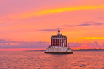 Dramatic Sunset at New London Ledge Light, Long Island Sound, New London, CT