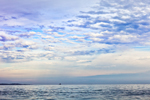 Clouds over The Race in Long Island Sound with Fishers Island in Background, Long Island, NY