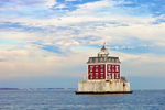 New London Ledge Light in Early Evening, Long Island Sound, New London, CT