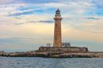 Little Gull Island Light, Long Island Sound, Long Island, Southold, NY