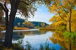 Inlet on Yanty Creek in Fall, Hamlin Beach State Park, Great Lakes Seaway Trail, Lake Ontario, Hamlin, NY