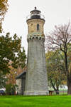 Old Fort Niagara Lighthouse, Built 1871, Fort Niagara State Park, Confluence of Niagara River and Lake Ontario, Youngstown, NY