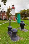Historic Dunkirk Lighthouse (Built 1875), with Cleats and Buoys, Great Lakes Seaway Trail, Point Gratiot, Lake Erie, Dunkirk, NY