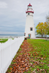 Marblehead Lighthouse, Built 1821, Marblehead Lighthouse State Park, Lake Erie, Marblehead, OH