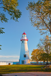 Early Morning Light at Marblehead Lighthouse, Built 1821, Marblehead Lighthouse State Park, Lake Erie, Marblehead, OH