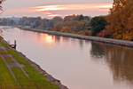Sunset on the Erie Canal, Great Lakes Region, Lockport, NY