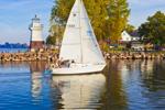 Oak Orchard Lighthouse, Oak Orchard State Marine Park, Lake Ontario, Great Lakes Seaway Trail, Point Breeze, Carlton, NY