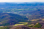 Early Spring Panoramic View of the Blue Ridge Mountains, Jewell Hollow, and Shenandoah Valley from Jewell Hollow Overlook on Skyline Drive, Shenandoah National Park, Page County, VA