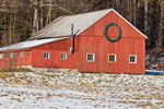 Big Red Barn with Holiday Wreath, Dover, VT