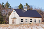Natural Wood Barn with White Cupola, Dover, VT