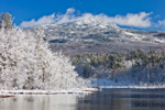 View of Mt Monadnock from Perkins Pond after Fresh Snowfall, Troy and Jaffrey, NH