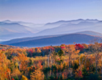 White Mountains on Early Fall Morning from Mt. Moosilauke Area, White Mountain National Forest, Woodstock, NH