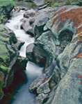 Stream Flowing through Rocks, Sculptured Rocks State Park, Groton, NH