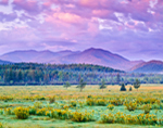 Mountains of Sentinel Range Wilderness Area, Adirondack State Park, View from Wilmington, NY