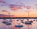 Boats at Sunset in Pepperell Cove, Portsmouth Harbor, Kittery, ME