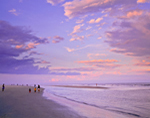 Beach and Sky in Late Evening Light at Hilton Oceanfront Resort, Palmetto Dunes, Hilton Head Island, SC