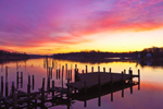 Old Abandoned Piers on Sassafras River at Predawn, Fredericktown and Georgetown, MD