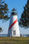 Concord Point Lighthouse, Built 1827, Confluence of Susquehanna River and Chesapeake Bay, Havre de Grace, MD