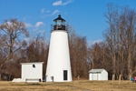 Turkey Point Lighthouse, Built 1833, Elk Neck State Park, Chesapeake Bay, Cecil County, MD