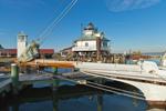 Hooper Strait Lighthouse with Skipjack
